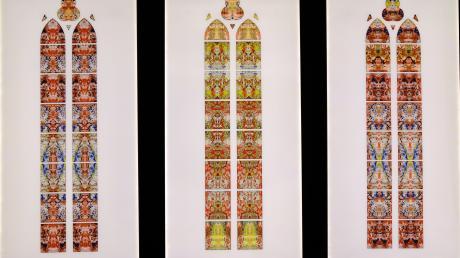 Fenster-Entwürfe von Gerhard Richter für das Benediktinerkloster im saarländischen Tholey.
