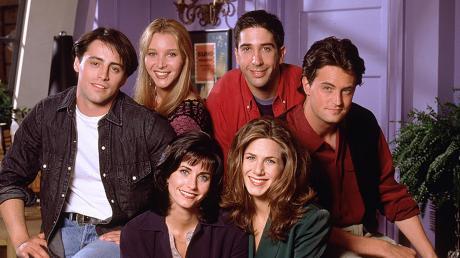 """Die Hauptdarsteller der Serie """"Friends""""."""