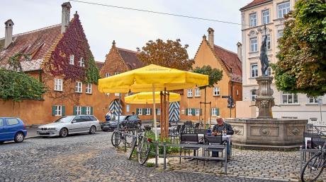 Ein entspannter Ort in der Innenstadt: Für Jürgen Schmid, früher Chef der Handwerkskammer, ist der Jakobsplatz der schönste Platz der Stadt.