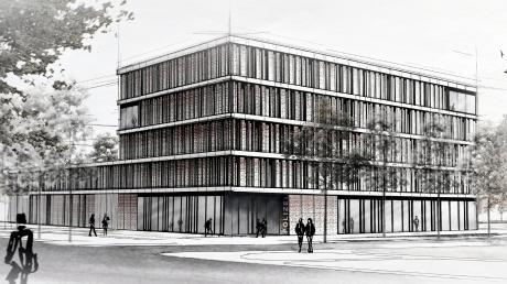 So soll das neue Polizeirevier Augsburg-West an der Ackermann-Straße aussehen. Dort sollen die Reviere in Pfersee und Oberhausen zusammengelegt werden. Es ist der letzte Schritt zu einer neuen Polizeistruktur.