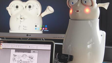 Auch ein Witze-Roboter der Uni-Informatiker kommt beim Jubiläum zum Einsatz.