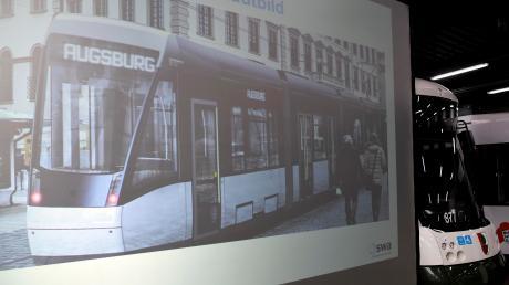 Fotomontage: So sieht die neue Straßenbahn aus.