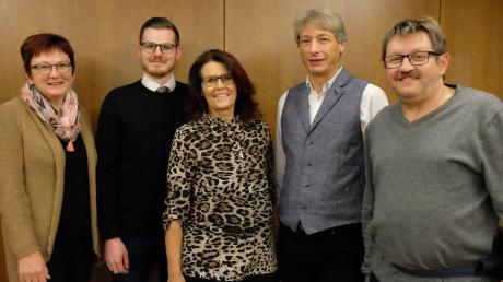 Die fünf derzeitigen SPD-Gemeinderäte treten wieder an: Sabine Krätschmer, Fabian Kaimer, Silvia Wäsnig, Axel Arbeiter und Jakob Hügel (von links).