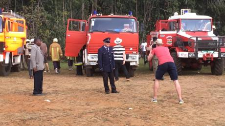 """Die Freiwillige Feuerwehr wurde mithilfe der Augsburger Organisation """"Pro Kapsogo"""" aufgebaut."""