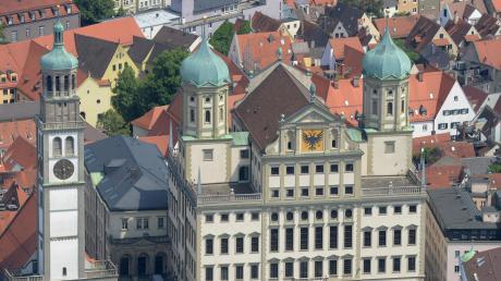 Der Perlachturm und das Rathaus gehören zu den bekanntesten Bauwerken von Elias Holl.
