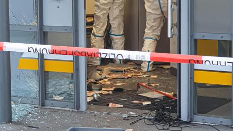 So sah es am 9. November nach der Sprengung des Geldautomaten in der Commerzbank-Filiale aus.