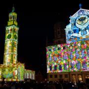Beleuchtete Fassaden gehören zum Konzept der Light Nights. Die Aktion findet am Wochenende statt.