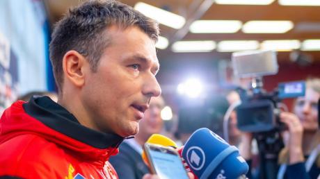 """""""Wir sind eine große Handball-Nation, das wollen wir auch zeigen"""", sagt Bundestrainer Christian Prokop vor dem ersten Hauprundenspiel heute Abend gegen Weißrussland."""