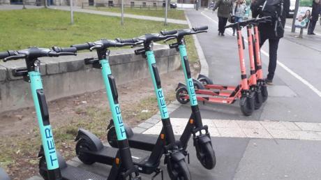 Seit einigen Tagen bietet auch Tier seine E-Scooter in Augsburg an.