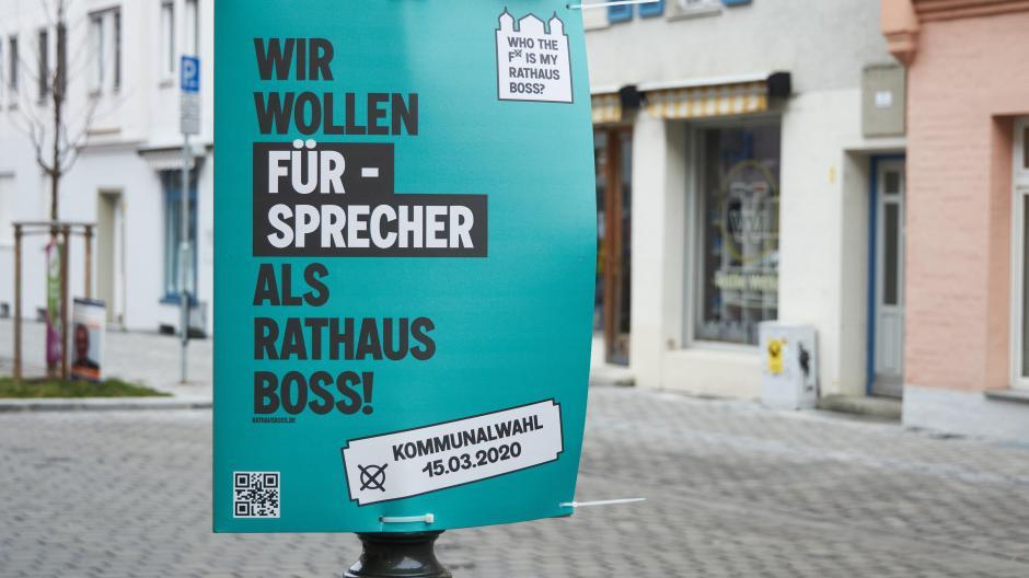 So wollte der Stadtjugendring auf seine Kampagne für Jungwähler aufmerksam machen – verstieß damit aber gegen die Plakatierungsregeln.