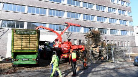 Am ehemaligen Postgebäude im Stadtjägerviertel wurden jüngst Bäume gefällt.
