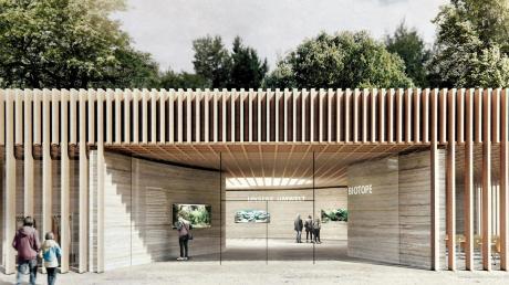 Das neue Umweltbildungzentrum beim Botanischen Garten wird mit nachhaltigen Materialien wie Holz und Lehm gebaut. So soll beim Eingriff in die Natur der ökologische Fußabdruck klein bleiben.