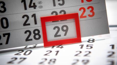 Alle vier Jahre hat der Kalender einen Tag mehr. Heuer fällt der 29. Februar auf einen Samstag.