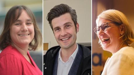 Martina Wild (Grüne) und Dirk Wurm (SPD) lieferten sich ein Kopf-an-Kopf-Rennen um Platz zwei. Eva Weber (CSU, rechts) holte in jedem Stadtbezirk die meisten Stimmen.