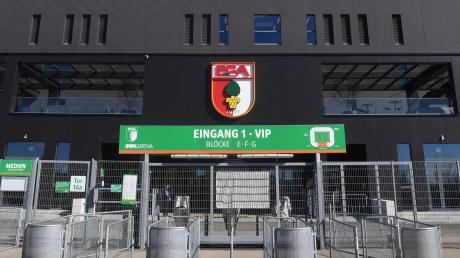 Die verwaiste WWK-Arena. Derzeit ruht der Spielbetrieb in der Bundesliga.