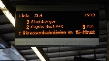 Die Trams in Augsburgfahren ab Dienstag nur noch alle 15 Minuten.