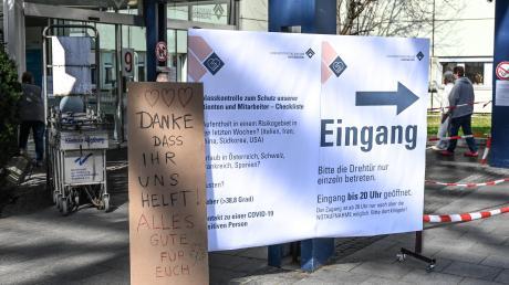 ImUniversitätsklinikum Augsburg werden Corona-Patienten behandelt.
