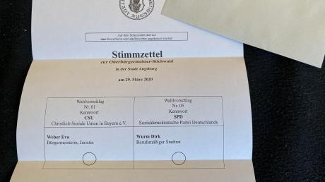 Der Stimmzettel. Ausgezählt wurde am Sonntag ab 18 Uhr.