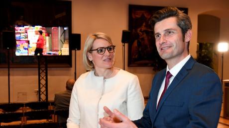 Eva Weber und Dirk Wurm am 15. März.