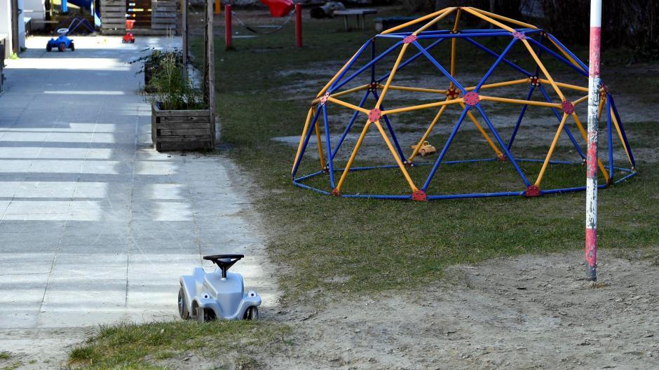 """In vielen Kindertagesstätten – auf dem Foto die Kita """"Zum Schutzengel"""" – werden derzeit kaum Kinder betreut."""