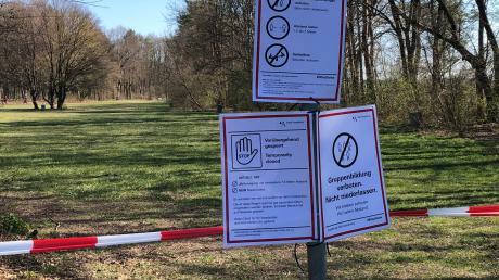 Der Grillbereich im Siebentischpark bleibt vorerst gesperrt.