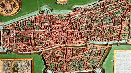 Das 1563 fertiggestellte Stadtmodell im Maximilianmuseum zeigt Augsburg in Miniatur, bevor Elias Holl die Stadt baulich veränderte.