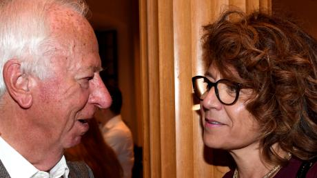 Ein Rückblick auf das Jahr 2018: Willi Leichtle im Gespräch mit SPD-Parteifreundin Margarete Heinrich.