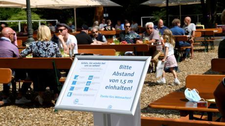Im letzten Sommer durften die Biergärten auch unter strengen Vorgaben öffnen.