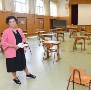 Bereits im Vorfeld wurde am Gymnasium Maria Stern viel für die Einhaltung der Hygienevorschriften getan. Eine Turnhalle wurde beispielsweise zum Klassenzimmer umfunktioniert.