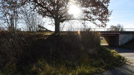 An dieser Stelle in Gessertshausen war die Leiche von Angelika Baron 1993 gefunden worden.