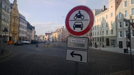 In der Maximilianstraße galt vergangenes Jahr ein nächtliches Fahrverbot für den motorisierten Verkehr.