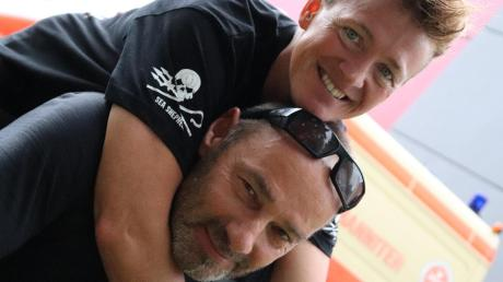 Box-Weltmeisterin Tina Schüssler und ihr Lebensgefährte Clemens Brocker sind ein starkes Team. Sie wollen auch im Kampf gegen Morddrohungen und Stalking-Terror zusammenhalten.