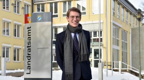 Philippe-Maurice Optenhövel ist der persönliche Referent von Landrat Thomas Eichinger. Seit wenigen Wochen arbeitet der 25-Jährige im Landratsamt Landsberg.
