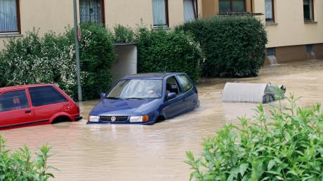 Das Pfingsthochwasser 1999 hatte vor allem den Augsburger Stadtteil Pfersee betroffen.