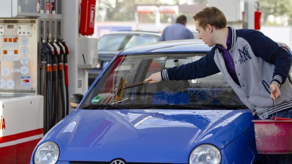 Verkehr Insekten Auf Der Autoscheibe Sofort Entfernen Auto
