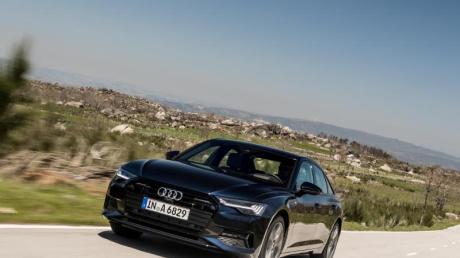 Start im Sommer: Die achte Generation seiner Limousine A6 bietet Audi zu Preisen ab 58 050 Euro an. Foto: Graeme Fordham/Audi
