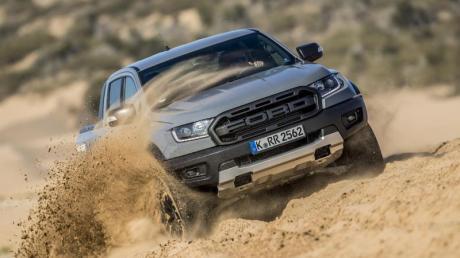 Im Sand oder Schlamm ist der Raptor dank der maximal 500 Nm Drehmoment kaum zu schlagen. Foto: Ford