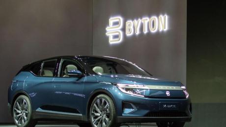 Die Serienversion des SUV-Modells M-Byte des Elektroauto-Herstellers Byton steht auf der Technik-Messe CES. Byton hat inzwischen 60 000 Reservierungen für sein erstes Modell bekommen.