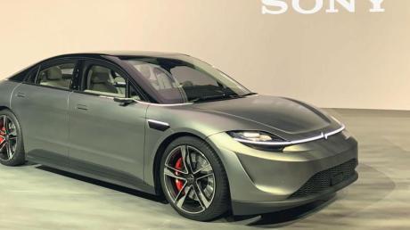 Auf der Technikmesse CES zeigte Sony den Prototypen eines autonomen Elektrofahrzeugs.