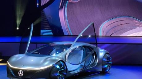 Hollywood-Traum oder ferne Realität? Die Studie Vision AVTR auf dem CES-Stand von Mercedes.