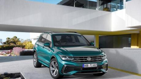 Aufgefrischtes Modell: Zu erkennen sind die Veränderungen beim VW Tiguan unter anderem am retuschierten Grill und an den Leuchten.