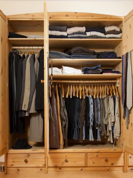 Wohnen Stapeln Oder Hangen Den Kleiderschrank Planen Bauen