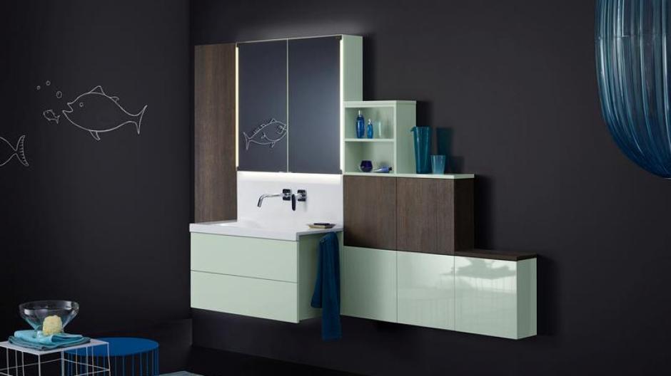 badezimmer bauen, wohnen: erdbeereisrosa und minzgrün im badezimmer im trend - bauen, Badezimmer