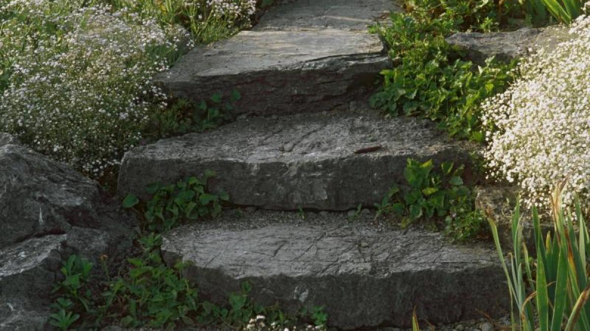 bau: auf solidem fundament - gartentreppen selber anlegen - bauen