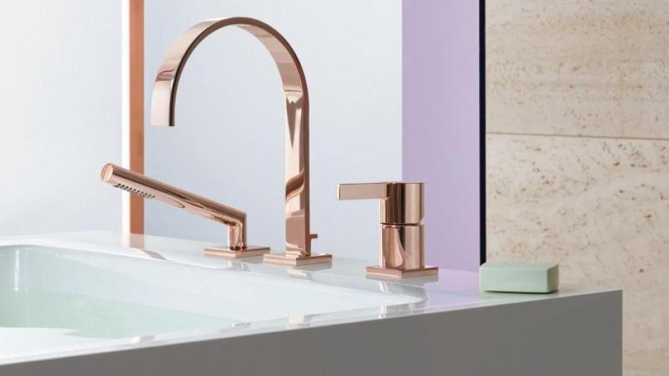 Wohnen: Badezimmer: Armaturen in Gold und Rosé im Trend ...
