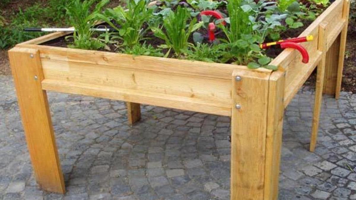 freizeit: gärtnern im stehen: tischbeet einfach selber bauen - bauen