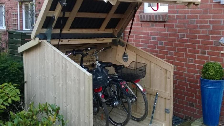 Schuppen Für Mülltonnen immobilien: fahrrad und müll: der schuppen ist vielseitig einsetzbar