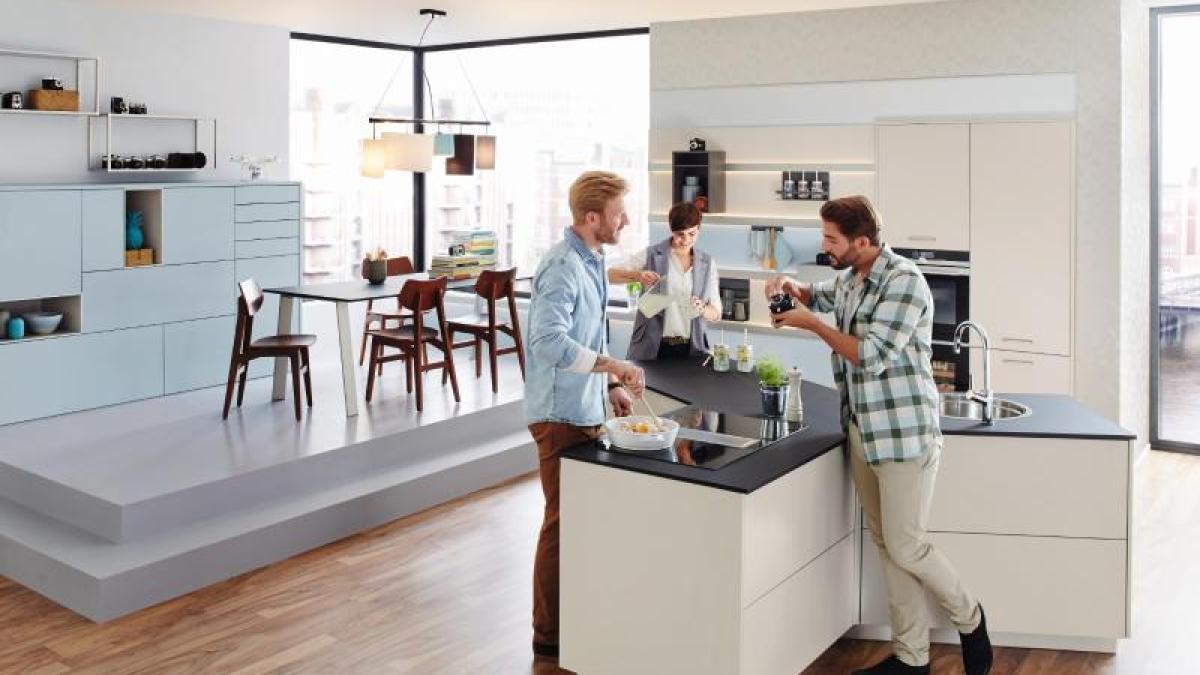 m bel f r offene grundrisse das aus f r die klassische k che bauen wohnen themenwelten. Black Bedroom Furniture Sets. Home Design Ideas