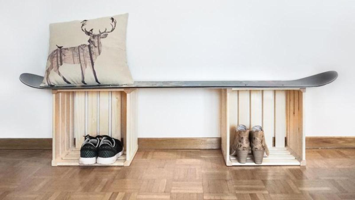 kreativ umfunktionieren aus altem snowboard m bel bauen bauen wohnen themenwelten. Black Bedroom Furniture Sets. Home Design Ideas