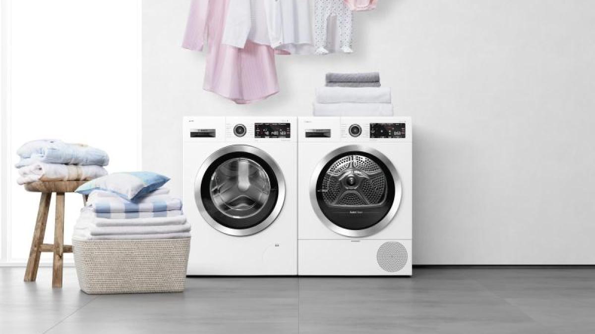 Hier Geht Es Rund Bugelnde Trockner Und Waschmaschinen Auf Der